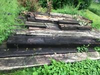 Railway sleepers x 20, varying in condition. Must pick up