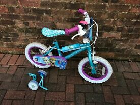 "Girls 14"" frozen bike"