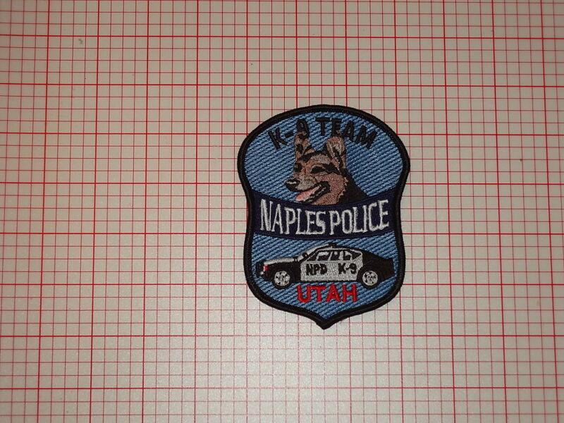 Naples Utah Police K9 Patch