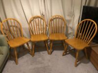 Pine Dining Chairs x 4