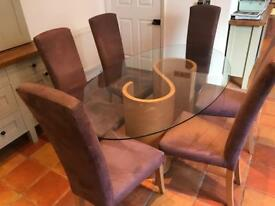 Tom Schneider Dining Table, 6 Chairs & Coffee Table