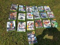 20 X box games varoius titles