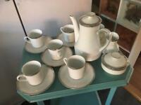 WINTERLING BAVARIAN WHITE AND SILVER COFFEE SET