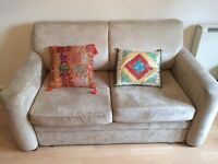 A confortable 2 Seater Beige Sofa - £50