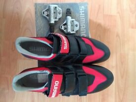 Shimano cycle shoes and pedals