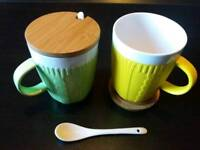 Mother's day - Easter cup coaster and spoon gift set