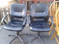 1 office chair, leather broken, height adjustable, Swivel