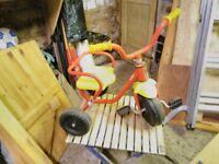 Kiddies Trike (Used) as pictured, good condition Yellow and Red metal frame as Picture