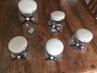 5 jars - various sizes