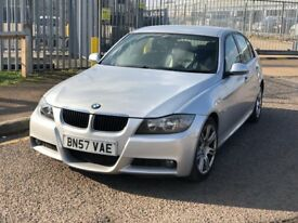 BMW 320D## M SPORT## 2007 ### AUTOMATIC### DIESEL 4 DOOR SALOON SILVER WITH MOT HISTROY