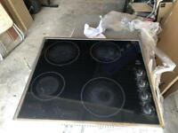 Ceramic hob and single oven