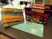 Horrible histories blood curlin books x15 & box