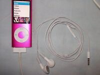 Apple iPod Pink (8GB) Complete with its Genuine Apple Remote Control Earphones & Charge Lead.