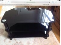 "Dark Glass TV Stand, 32"" £10"