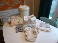 Cloth Nappy Bundle - bamboo flat nappies, Motherease wraps, Popin all-in-ones and more