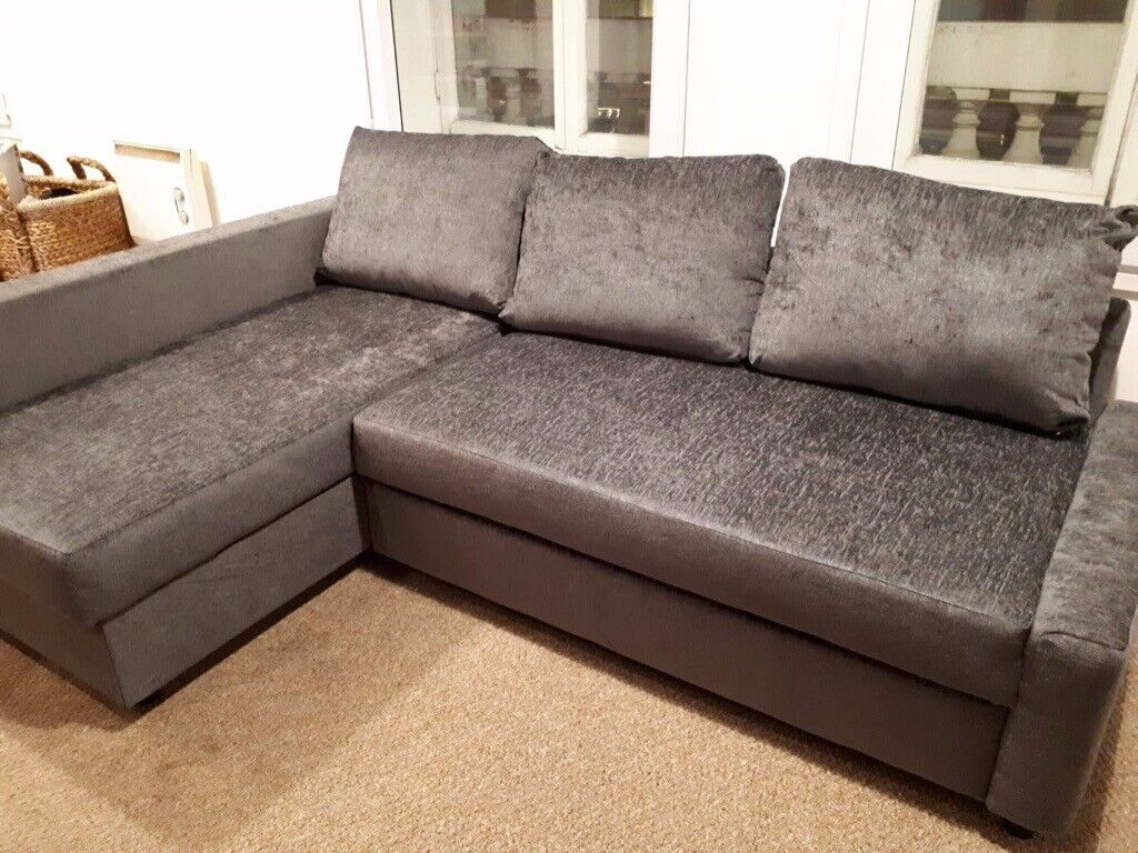 Like New - IKEA FRIHETEN - L-Shaped Sofa Bed with Storage - Dark Grey | in  Cardiff City Centre, Cardiff | Gumtree