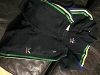 Adidas track suit and trainers 2-3 yrs
