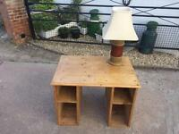 Small Antique old pine desk