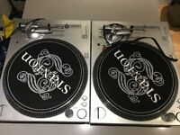 2 x STANTON STR8-50 2-SPEED BELT DRIVE DIGITAL TURNTABLES
