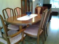 Dining suite comprising a table & 6 chairs.