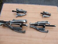 Set of 4 gear pullers