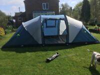 Trespass Go Further 6 man tent with carpet