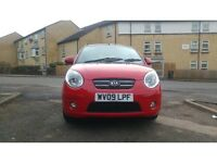 2009 KIA Picanto 1.1 Red 5dr Excellent Condition. Hpi clear