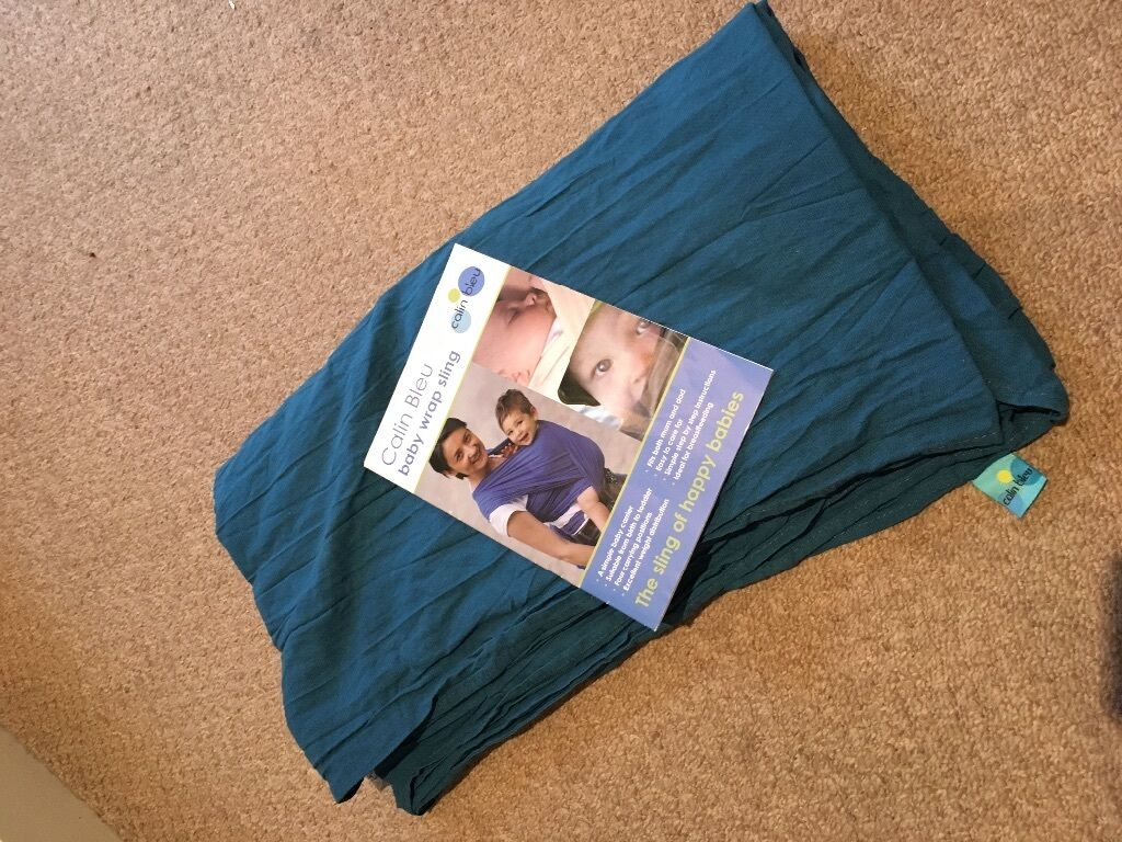 Beautiful Teal Calin Bleu Gauze Wrap And Instruction Booklet In