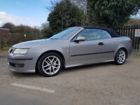 2005 SAAB 9-3 2.0 T AERO CONVERTIBLE ONLY 84K MILES LEATHER P/SENSORS 210 BHP FULL HISTORY CABRIOLET