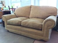 2 Seater Light Ochre Country Style Sofa