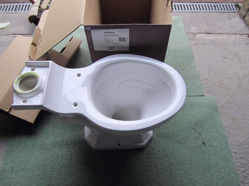 New Heritage PGRW00 Granley Pan Close Coupled White.