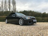 BMW 320 M SPORT CONVERTIBLE BLACK E46 SH LONG MOT MANUAL HEATED LEATHER £3495