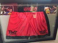 Floyd mayweather signed shorts.