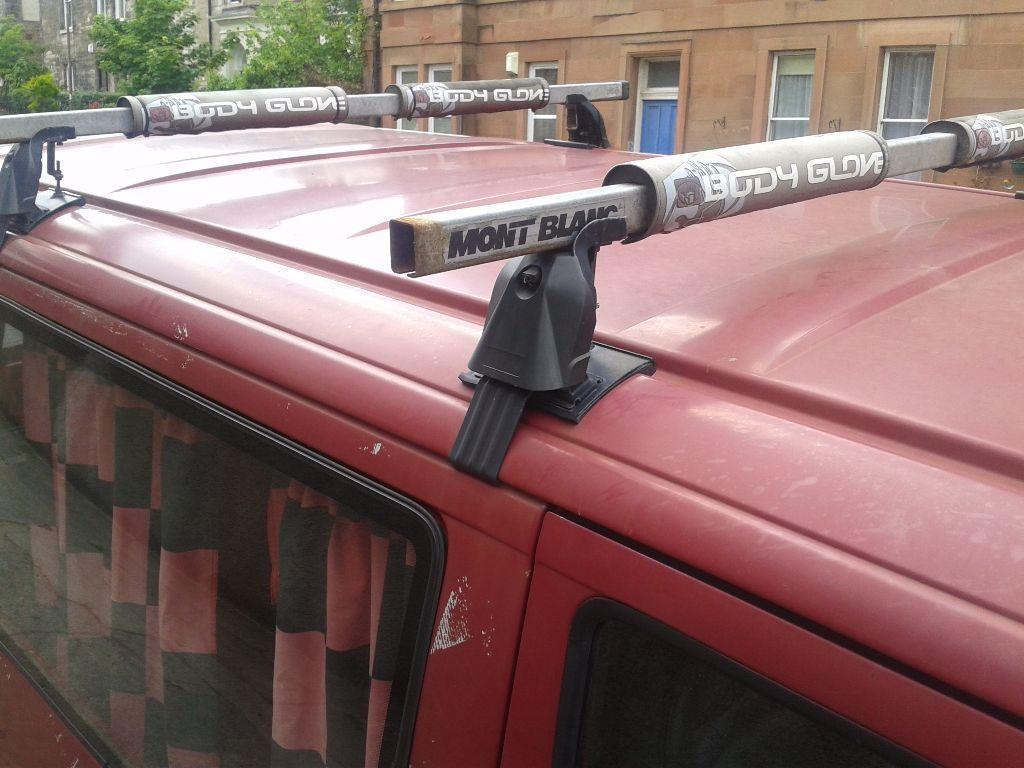 Volkswagen t4 transporter roof rack with bodyglove pads for 3999 roof