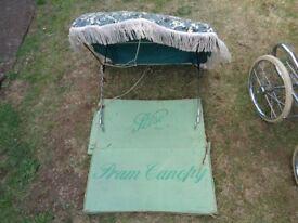 pelso original boxed sun canopy for baby pram
