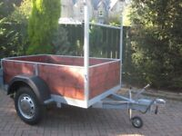 Braked 6 x 4 trailer,new woodwork,new jockey wheel,new electrics,spare wheel