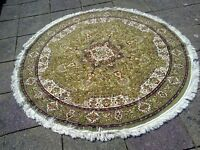 Vintage (1970's) Circular Persian Rug; Six Feet Diameter; Excellent Quality & Condition.