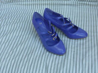 Purple-blue (violet) shiny ladies heels, size 38 (5)