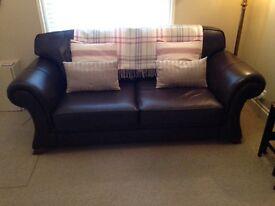 Leather Sofa - Chocolate brown