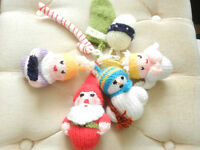 New 7 Hand Knitted Christmas Tree Decorations