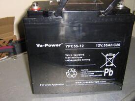 YU-POWER 12V 55Ah BATTERY FOR LEISURE MOTOR HOME CAMPER CAR BOAT RECREATION