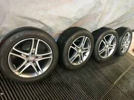 "Mercedes 18 inch 18"" Alloy Wheels with Tyres. S class E class C class"