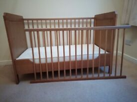 Cot Bed/Toddler Bed Plus English Made Thick Mattress