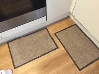 2 x washable non-slip kitchen floor mats