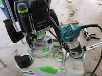 Festool of2200 and makita palm router