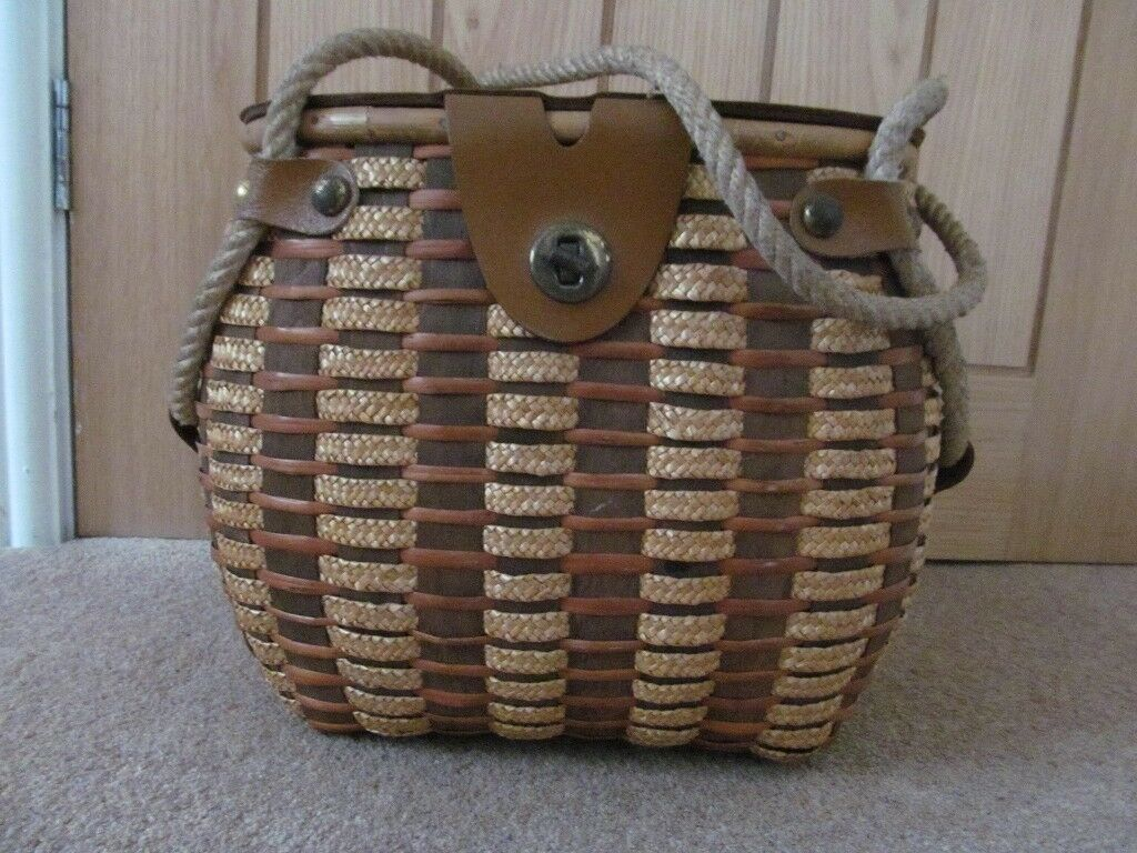 Vintage fishing keep net bag early 1950's Yorkshire coast