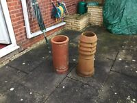 2 reclaimed chimney pots. For sale due to house renovation. Both in good condition.