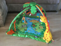 Fisher Price Rainforest Melodies and Lights Gym / Play Mat for toddlers