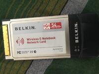 BELKIN Wireless G Notebook Network Card (802.11g , 54mbps)