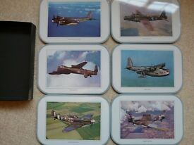 WORLD WAR II RAF AIRCRAFT QUALITY PLACE MATS HIGH QUALITY PICTURES